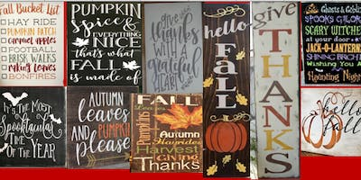 Fall Sip N Sign at Muddy's with B&S Primitive Signs