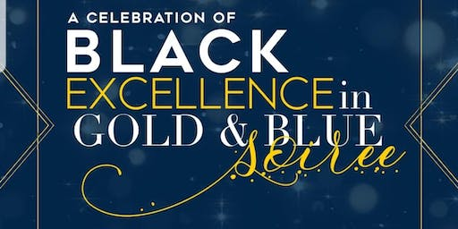 JCSU Black Excellence in  Gold and Blue Soriee