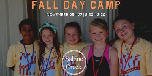 Sabine Creek Ranch Day Camp FALL 2019