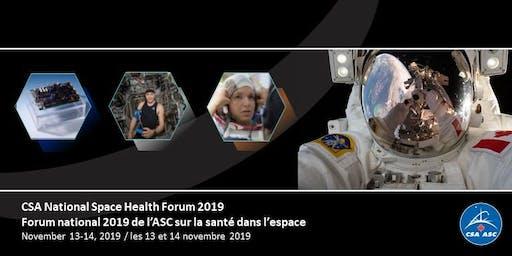 National Space Health Forum - Forum national sur la santé dans l'espace