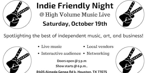 Indie Friendly Night feat. Sheleah Monea
