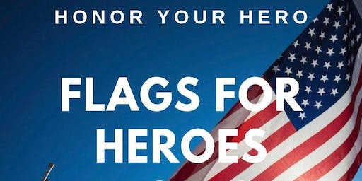Veterans Day FLAGS FOR HEROES