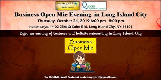 Business Open Mic Evening in Long Island City