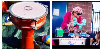 JKidz Club Drum circle, face painting and balloon making