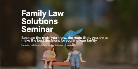 Family Law Solutions Seminar Joondalup tickets
