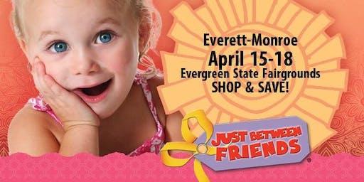 Just Between Friends Everett-Monroe Consignment Event Tickets, Spring 2020