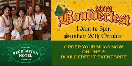 BOULDERFEST - Recreation Hotel - MUGS - COMPETITIONS  tickets