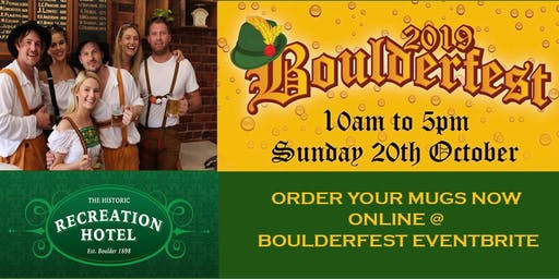 BOULDERFEST - Recreation Hotel - MUGS - COMPETITIONS
