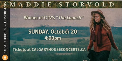 Maddie Storvold House Concert Sunday October 6th