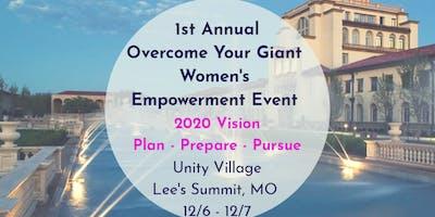 Overcome Your Giant: 2020 Vision- Plan Prepare Pursue