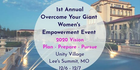 Overcome Your Giant: 2020 Vision- Plan Prepare Pursue tickets
