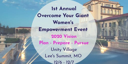 Overcome Your Giant: 2020 Vision- Plan Prepare Pursue