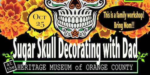 Sugar Skull Decorating with Dad