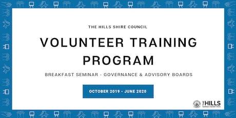 Breakfast Seminar - Governance & Advisory Boards tickets