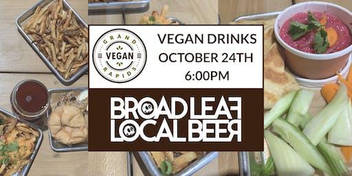 Vegan Drinks   October 2019