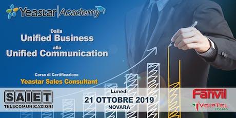 Corso di Certificazione Yeastar Sales Consultant - VoIP Unified Business biglietti
