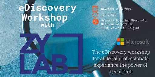 eDiscovery Workshop for legal professionals 28 november 2019