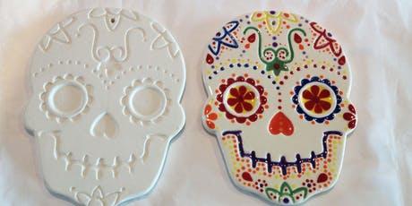 Day of the Dead ceramic skull painting tickets