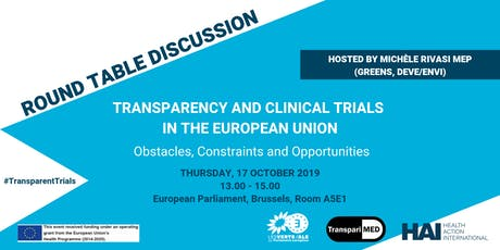 Transparency and Clinical Trials in the EU: Obstacles and Opportunities tickets