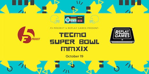 Tecmo Super Bowl Tournament Fundraiser