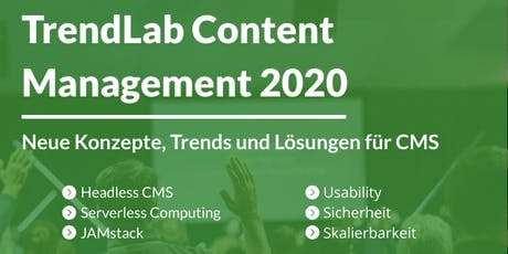 TrendLab Content Management 2020 - Stuttgart Tickets