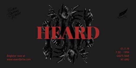 Filmore's Floor Presents: HEARD (Black History Month Special) tickets