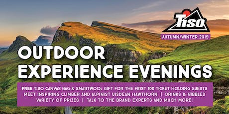 Tiso Aberdeen AW19 Outdoor Experience Evening tickets