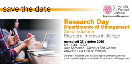 Research Day biglietti
