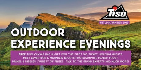 Tiso Glasgow  AW19 Outdoor Experience Evening tickets