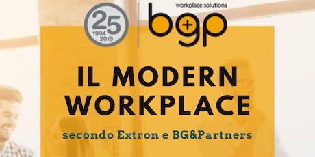 Il Modern workplace secondo Extron e BG&Partners biglietti
