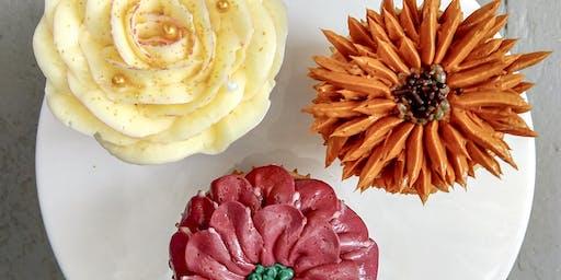 Fall Floral Cupcake Class