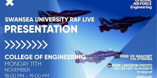 RAF LIVE PRESENTATION - Swansea University