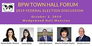 BPW Greater Moncton October Meeting - Federal Election...
