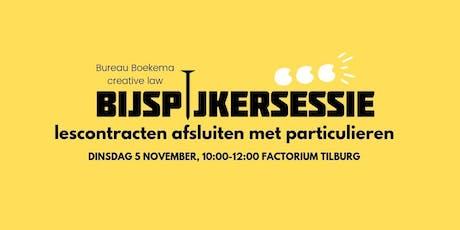 Bureau Boekema Bijspijkersessie: lescontracten afsluiten met particulieren tickets