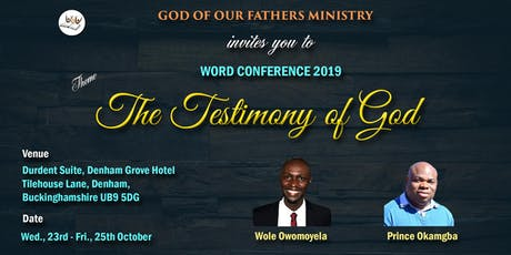 GOF Word Conference tickets