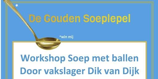 Workshop Soep met ballen door vakslager Dik van Dijk