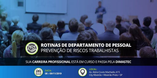 Rotinas Departamento Pessoal • 08 e 09/11/2019 em Ribeirão Preto