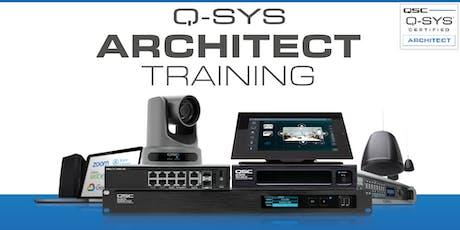 Q-SYS Architect Classroom Training tickets
