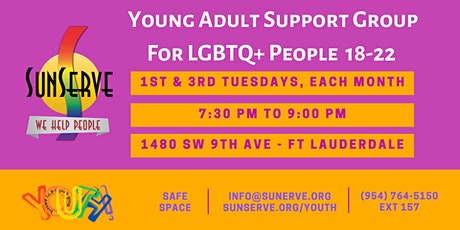 Young Adult Support Group for 18-22 LGBTQ+ Folkx tickets