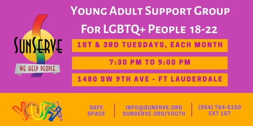 Young Adult Support Group for 18-22 LGBTQ+ Folkx