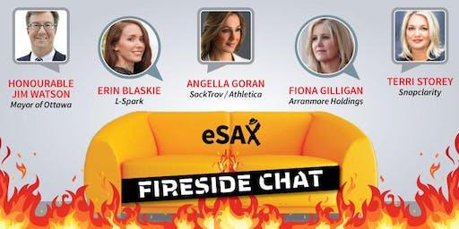 eSAX Fireside Chat promoting women in business - October 16, 2019 Ottawa Entrepreneur Networking Event