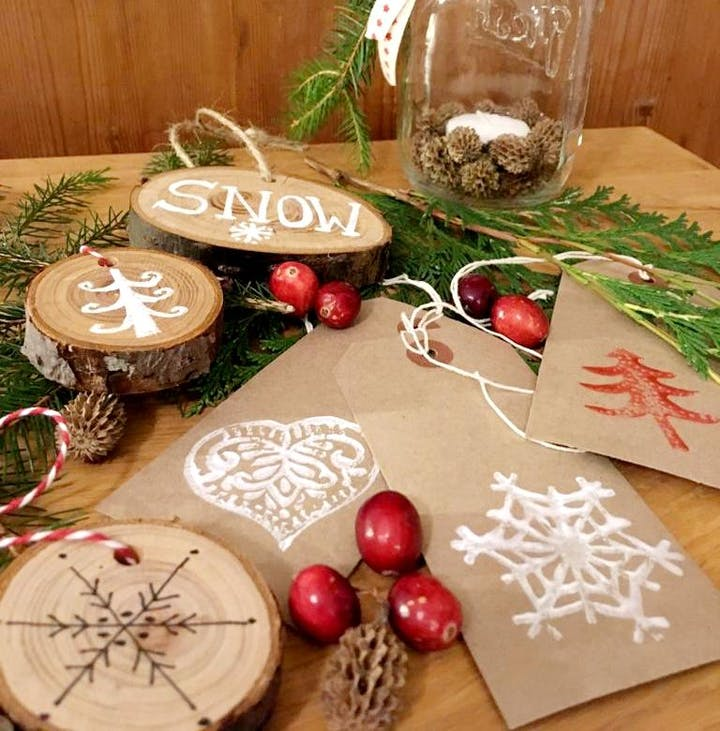 Essential Christmas Decorations.Handcrafted Natural Christmas Decorations Candle Workshop
