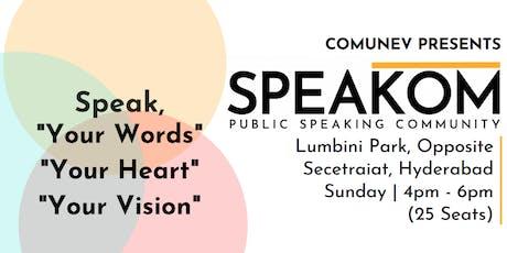 Speakom Hyderabad - Public Speaking Community tickets