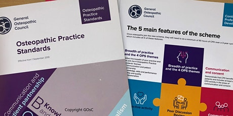 The 5C's of the Osteopathic Practice Standards –1 February 2020 tickets