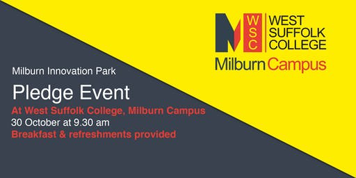 Milburn Innovation Park: Pledge Event