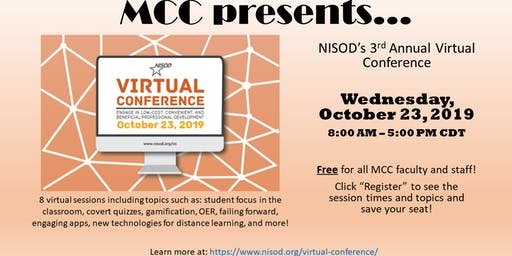 MCC - NISOD Virtual Conference 2019