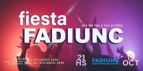 Fiesta FADIUNC entradas