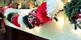 Christmas pom pom  garland workshop