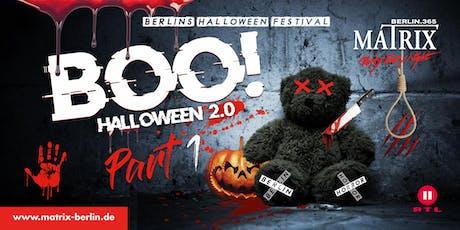 BOO! Halloween Festival - Part 1 I Do. 31. Oktober 2019 Tickets