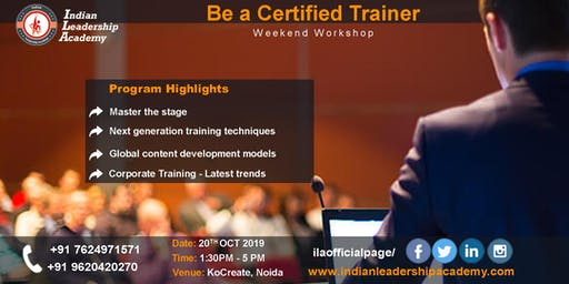 Be a Certified Trainer